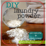 Make Your Own All Natural Laundry Powder