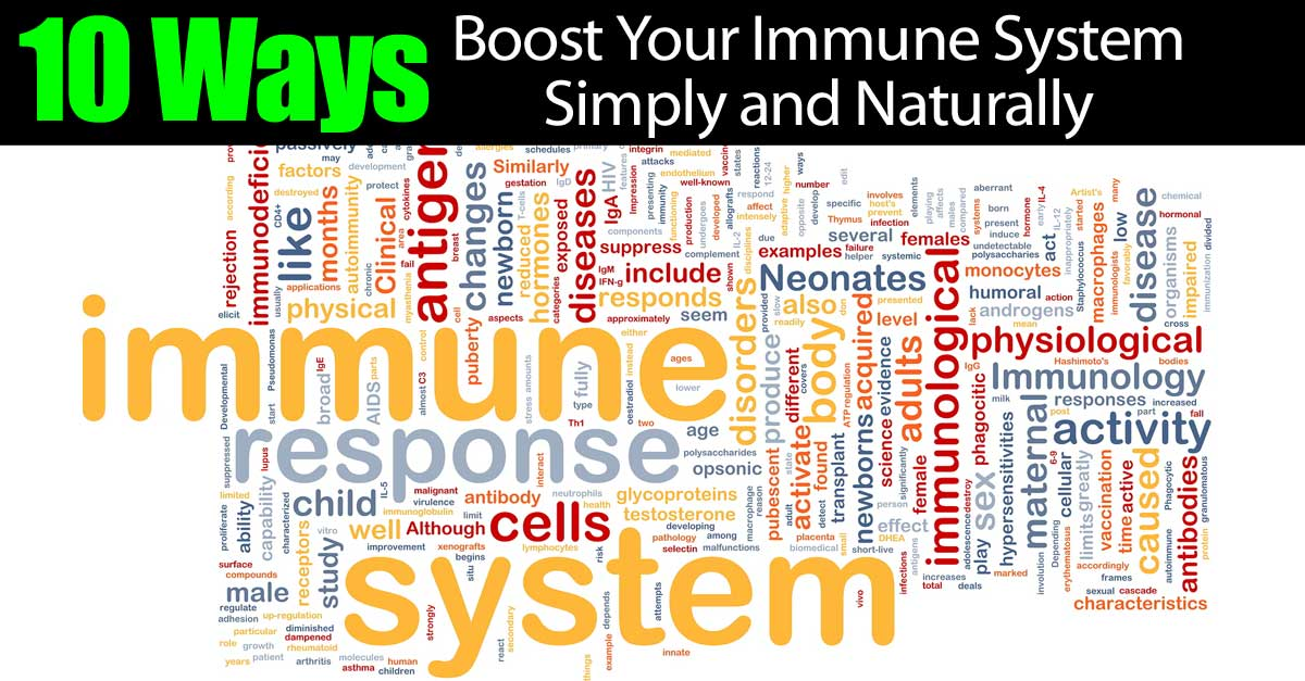 10 Ways To Boost Your Immune System Simply And Naturally