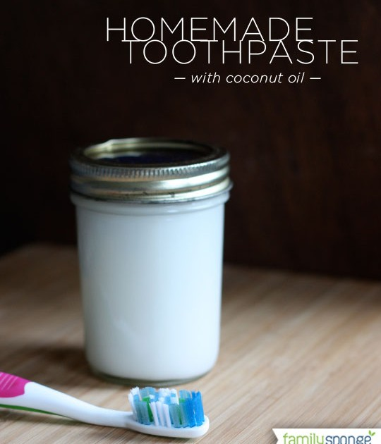 Toothpaste with coconut oil