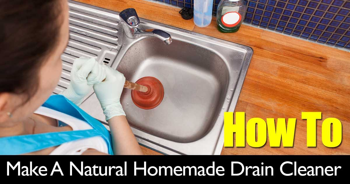 Make A Natural Homemade Drain Cleaner