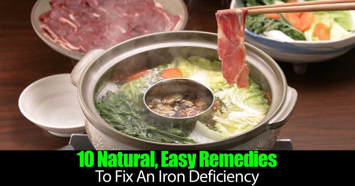 10 natural  easy remedies to fix an iron deficiency